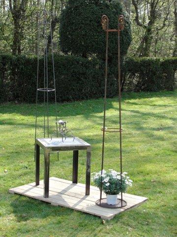 Metalmorphose ferronnerie artisanale jardini re potence mobilier jardin bougeoir - Mobilier de jardin brabant wallon versailles ...